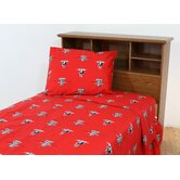 Texas Tech Printed Sheet Set in Solid