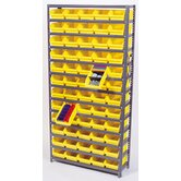 Economy Shelf Bin Storage Units (75&quot; H  x 36&quot; W x 12&quot; D)