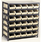 Economy Shelf Storage Units (39&quot; H x 36&quot; W x 18&quot; D) with Bins