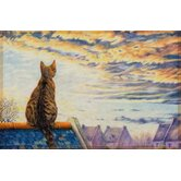 "44 x 67cm Fußmatte ""Gallery"" Cat on Roof"