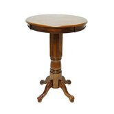 Florence Pedestal Pub Table in Walnut