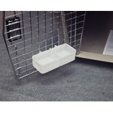Double Sided Water Cup For Kennels in White