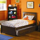 Brooklyn Platform Bed with Flat Panel Footboard and Trundle