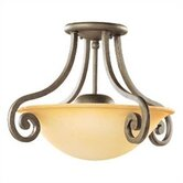 Brandywine 2 Light Semi Flush Mount