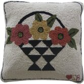 "A Day For Flowers Square: 18"" x 18"" - Beige Pillow"