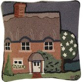 "Country House Square: 18"" x 18"" - Orange Pillow"