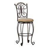 "30"" Gathered Back Bar Stool"