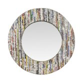 Magazine Silver Thread Round Mirror