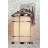 "Lighthouse Wall Lantern 9"" in Brushed Steel"