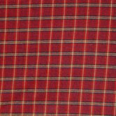 Red - Rustic Plaid and Black Lines Toss Pillow