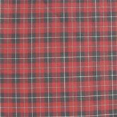 Red and Black Plaid White Lines Toss Pillow