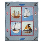 Ships Ahoy Cotton Throw