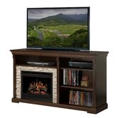 "Edgewood 65"" TV Stand with Electric Fireplace"