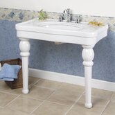 "Versailles Console Sink with 8"" Centers in White"