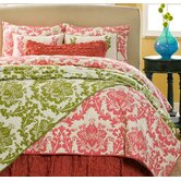 Green Damask Quilt Collection