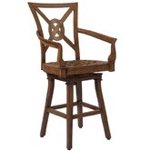 Vienna Swivel Counter Stool with Seat and Back Cushions