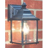 Doyle Outdoor Wall Lantern in Black / Gold