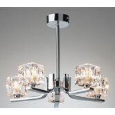 Prysm Five Light Semi Flush Mount