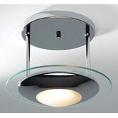 Via Semi Flush Ceiling Light in Polished Chrome