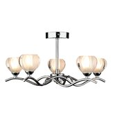 Cynthia Five Light Semi Flush Ceiling Light