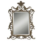 Corliss Mirror in Gray Wash