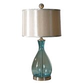 Meena Clear Blue Glass Table Lamp