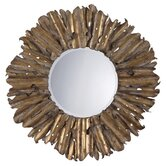 Hemani Mirror by Antiqued Gold Leaf