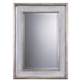 Ogden Blue Beveled Mirror in Hand Rubbed Sky Blue