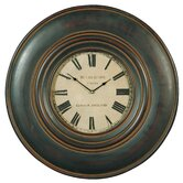 Adonis Wall Clock in Distressed Black