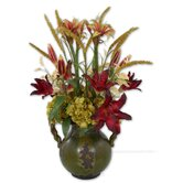 Daylilies in Tuscan Pottery Urn Planter