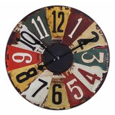 Vintage License Plates Clock