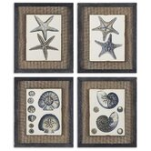 "4 Piece Coastal Blue by Grace Feyock Wall Art Set - 18""x15"""