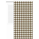 Metro Curtain Panel Houndstooth in White and Chocolate