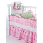 Summer Garden Pink and Green Crib Bedding Collection