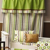 Mod Dots/Stripes Stripes Curtain Panel