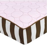 Quilted Circles Changing Pad Cover in Pink and Chocolate