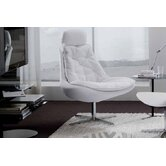Daya Upholstered Armchair and Ottoman Set