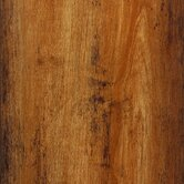High Gloss 10mm Click Lock Distressed Maple Laminate with Underlayment in Honey