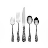 Repousse 5 Piece Flatware Set with Place Spoon