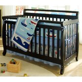 Emily 4-in-1 Convertible Crib with Toddler Rail in Ebony Black