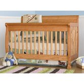 Kalani 4-in-1 Convertible Crib with Toddler Rail in Honey Oak