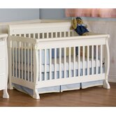 Kalani 4-in-1 Convertible Crib with Toddler Rail in White