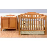 Parker Two Piece Convertible Crib Set with Toddler Rail in Oak