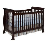 Reagan 4-in-1 Convertible Crib with Toddler Rail in Coffee
