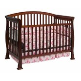 Thompson 4-in-1 Convertible Crib with Toddler Rail in Cherry