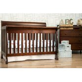 Kalani 4 in 1 Convertible Crib with Toddler Rail in Espresso