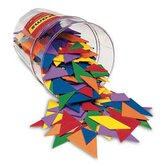 Classpack Tangrams, Set of 30, 6 colors