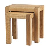 Block Nest of Tables in Natural Matured Oak (Set of 2)