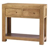 Block Console Table in Natural Matured Oak