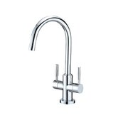 Nuvo Single Hole Sink Faucet with Double Lever Handles